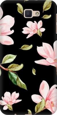 COBIERTAS Back Cover for Samsung Galaxy J5 Prime(Multicolor Black Floral Pink Roses design Designer Print Printed Design, Hard Case)