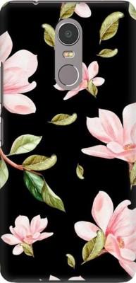 COBIERTAS Back Cover for Infinix Hot 4 Pro(Multicolor Black Floral Pink Roses design Designer Print Printed Design, Hard Case)