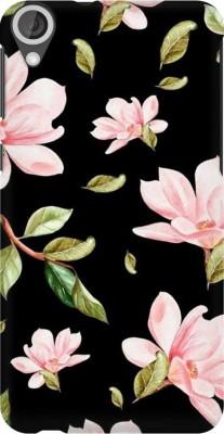 COBIERTAS Back Cover for HTC Desire 826(Multicolor Black Floral Pink Roses design Designer Print Printed Design, Hard Case)