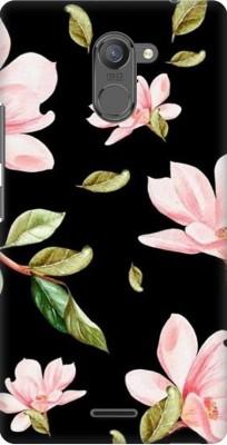 COBIERTAS Back Cover for Lenovo K6 Note(Multicolor Black Floral Pink Roses design Designer Print Printed Design, Hard Case)