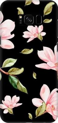 COBIERTAS Back Cover for Samsung Galaxy S8(Multicolor Black Floral Pink Roses design Designer Print Printed Design, Hard Case)