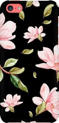 COBIERTAS Back Cover for Apple iPhone 8(Multicolor Black Floral Pink Roses design Designer Print Printed Design, Hard Case)