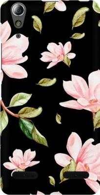 COBIERTAS Back Cover for Lenovo A6000(Multicolor Black Floral Pink Roses design Designer Print Printed Design, Hard Case)
