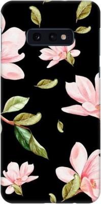 COBIERTAS Back Cover for Samsung Galaxy S10e(Multicolor Black Floral Pink Roses design Designer Print Printed Design, Hard Case)