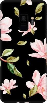COBIERTAS Back Cover for Samsung Galaxy S9(Multicolor Black Floral Pink Roses design Designer Print Printed Design, Hard Case)