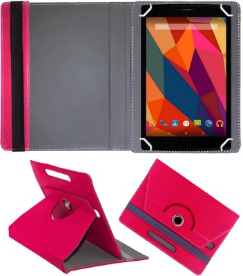 Fastway Book Cover for Micromax Canvas P680 Tablet 8 Inch(Pink, Cases with Holder)