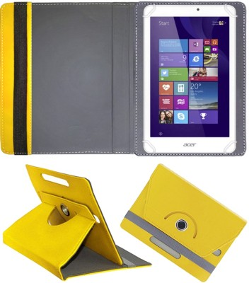 Fastway Book Cover for Acer Iconia Tab 8 W W1-810 32 GB 8 inch with Wi-Fi Only Tablet(Yellow, Cases with Holder)