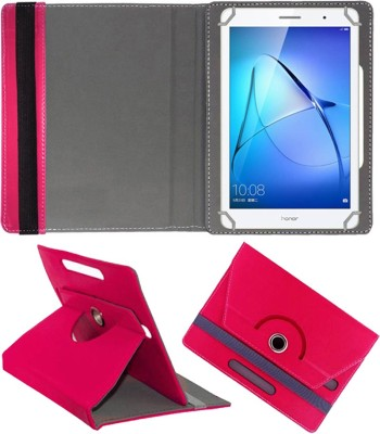 Fastway Book Cover for Honor Mediapad T3 Kobe-L09ahn Tablet (8inch)(Pink, Cases with Holder)