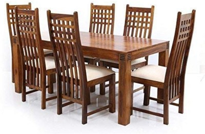 True Furniture Sheesham Wood Dining Table Set with Chairs for Living Room (Walnut Finish) Solid Wood 4 Seater Dining Set(Finish Color - Walnut Finish)
