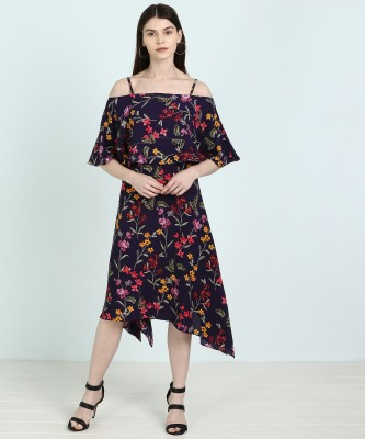 AND Women High Low Multicolor Dress