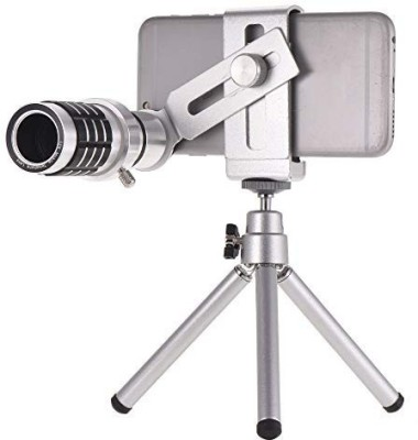 blue seed 12X Optical Zoom with Tripod Mobile Phone Telephoto Telescope Lens Compatible for iPhone Samsung HTC Nokia Sony Mobile Phone Lens