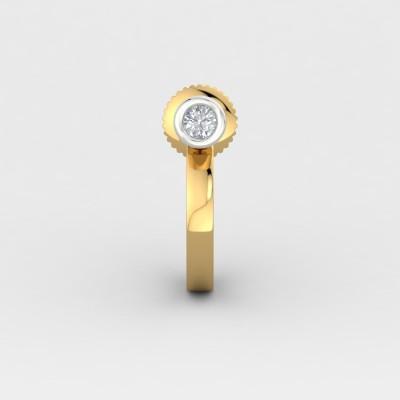 ShipJewel Yellow Gold 14kt Diamond Stud Earring
