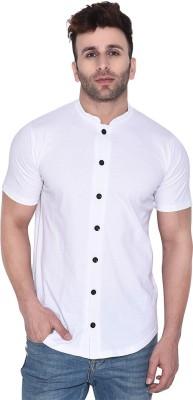 Geum Men Solid Casual White Shirt