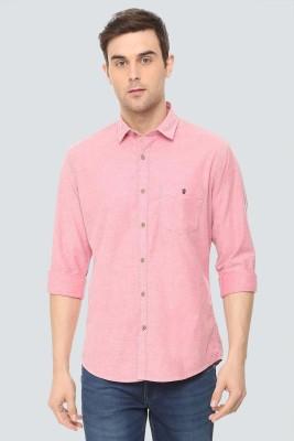 Louis Philippe Men Self Design Casual Pink Shirt at flipkart
