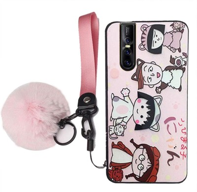 KC Back Cover for Vivo V15 Pro(Pink, Shock Proof, Silicon)