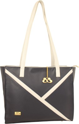 I Define You Women Blue, Black Hand-held Bag
