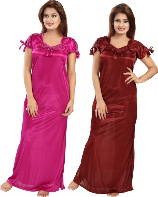 Shopping Station Women Nighty(Multicolor)