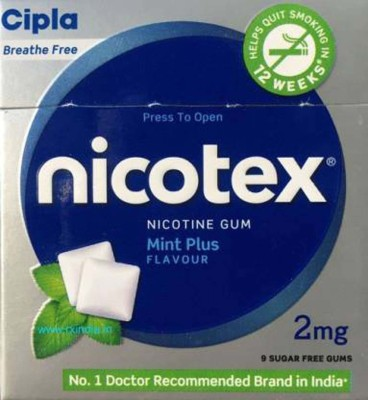 nicotex MINT PLUS FLAVOUR 10 PACK SET 24 hour patch Smoking Patch(Pack of 90)