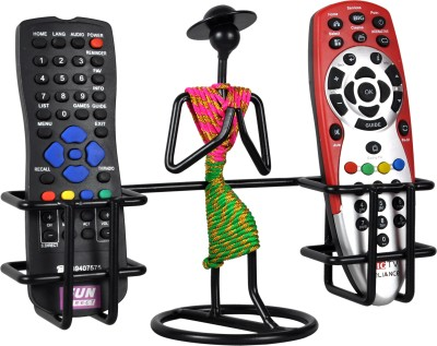 D&V ENGINEERING 2 Compartments Iron Remote control holder /stand /organizer(Black, Green, RED/PINK)