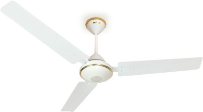 Maya Super Eco Tech Decorative 1200 mm BLDC Motor with Remote 3 Blade Ceiling Fan(Glossy White, Pack of 1)