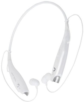 Aarzoomic Buy HBS730 headphone best sound Bluetooth Headset with Mic(White, In the Ear)