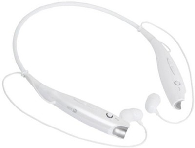 Aarzoomic Buy headphone best sound Bluetooth Headset with Mic(White, In the Ear)