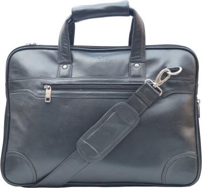ROCLEX 15.6 inch Expandable Laptop Messenger Bag(Black)