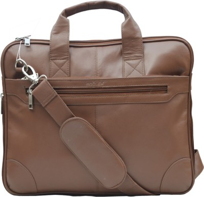ROCLEX 15.6 inch Expandable Laptop Messenger Bag(Brown)