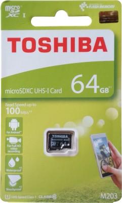 Toshiba MICROSDHC UHS-1 64 GB MicroSD Card UHS Class 1 100 MB/s Memory Card