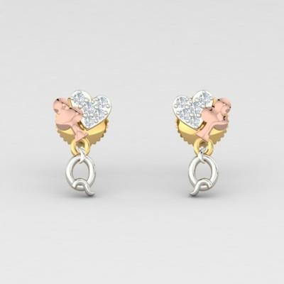 ShipJewel Yellow Gold 14kt Diamond Drop Earring