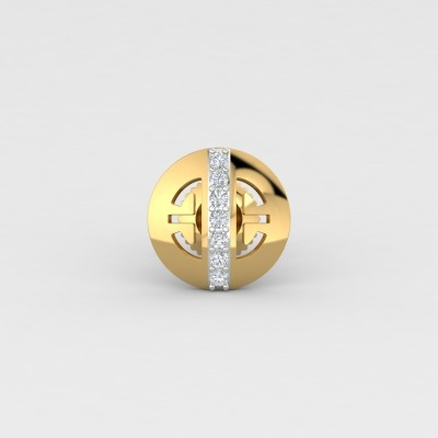 ShipJewel Yellow Gold 18kt Diamond Stud Earring