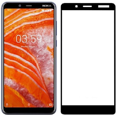 WESTERN COLLECTIONS Edge To Edge Tempered Glass for Nokia 3.1 Plus(Pack of 1)