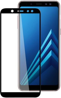 WESTERN COLLECTIONS Edge To Edge Tempered Glass for Screen Protector, Tempered Glass (Black) Designed For :- Samsung Galaxy A8 Plus(Pack of 1)