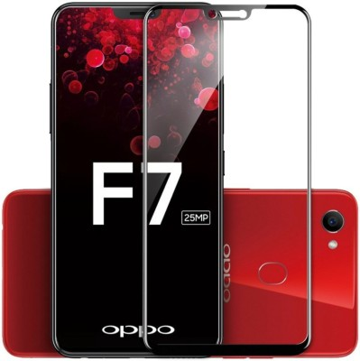 WESTERN COLLECTIONS Edge To Edge Tempered Glass for Screen Protector, Tempered Glass (Black) Designed For :- Oppo F7(Pack of 1)