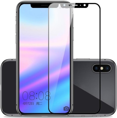 WESTERN COLLECTIONS Edge To Edge Tempered Glass for Screen Protector, Tempered Glass (Black) Designed For :- Redmi Note 6 Pro(Pack of 1)