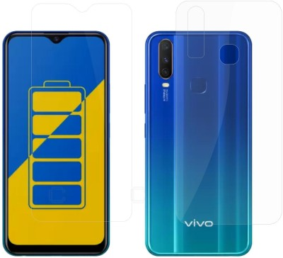 Case Creation Front and Back Screen Guard for Vivo Y12 2019(Pack of 2)