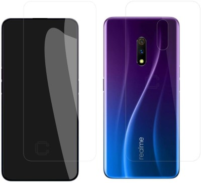 Case Creation Front and Back Screen Guard for Oppo Realme X(Pack of 2)