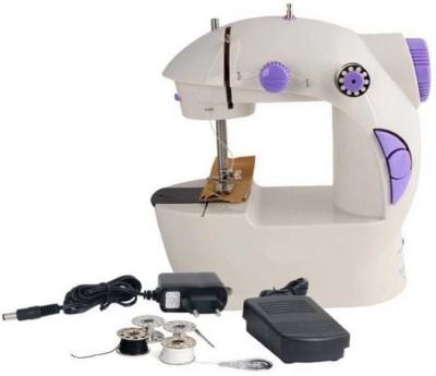 QUALIMATE Mini 4 in 1 Portable Machine Electric Sewing Machine Electric Sewing Machine( Built-in Stitches 12)