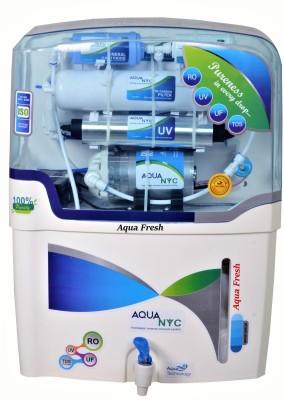 Aqua Fresh nyc blue mineral+ro+uv+uf+tds 15 L RO + UV + UF + TDS Water Purifier(White, Blue)