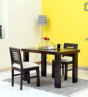 True Furniture Sheesham Wood 6 Seater Dining Table Set with Chairs for Living Room (Teak Finish) Solid Wood 6 Seater Dining Set(Finish Color - Teak Finish)