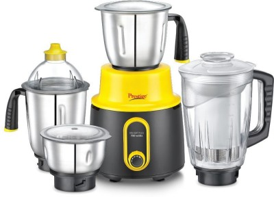 Prestige Mixer Grinder Delight Plus 750 W Mixer Grinder(Black and Yellow, 4 Jars)