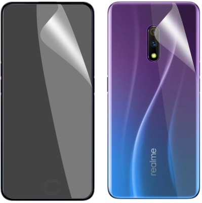 Case Creation Front and Back Screen Guard for Realme X 2019(Pack of 2)