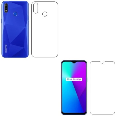 Case Creation Front and Back Screen Guard for Realme 3, Realme 3i(Pack of 2)