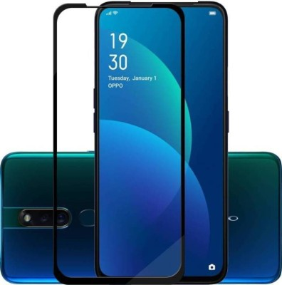 MOON CRYSTAL Edge To Edge Tempered Glass for oPPo f11 pro(Pack of 1)
