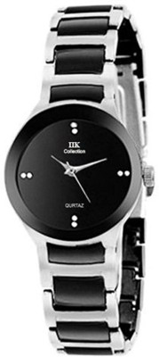 IIK Collection Watches Analogue Silver and Black Small Dial Analog Watch   For Men   Women IIK Wrist Watches
