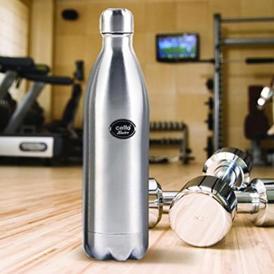 cello Swift Steel 1000 ml Flask(Pack of 1, Silver, Steel)