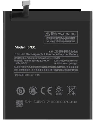 Longan Mobile Battery For Mi Redmi Y1 (Gold, 3GB RAM, 32GB ROM)