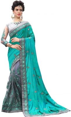 Be4Me.com Embroidered Fashion Art Silk, Cotton Silk Saree(Beige)