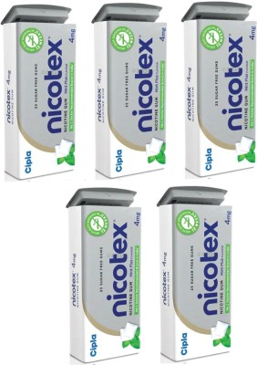 Nicotex TIN PACK OF 5 16 hour patch Smoking Patch(Pack of 125)