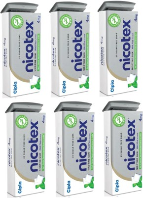 Nicotex TIN PACK OF 6 16 hour patch Smoking Patch(Pack of 150)